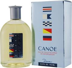 Canoe by Dana for Men. Eau De Toilette Spray 4-Ounces by Dana. $18.99. Packaging for this product may vary from that shown in the image above. This item is not for sale in Catalina Island. Introduced in 1932, Canoe features brisk citrus with accents of lemon and oakmoss. Its recommended use is for evening occasions.When applying any fragrance please consider that there are several factors which can affect the natural smell of your skin and, in turn, the way a scent sm...