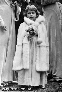 Royalty - Princess Elizabeth 1931  Princess Elizabeth arriving at the 16th Century Church at Balcombe, Sussex, for the wedding of Lady May Cambridge and Captain Henry Abel Smith.