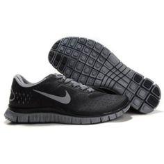 Billig Selg 2013 Menn Nike Free 4.0 V2 Svart Grå