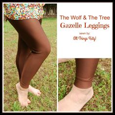 e2ca92cad70b6 The Wolf and the Tree Gazelle Leggings Today, I get to share something fun  with you- a PDF sewing pattern for leggings and socks (.