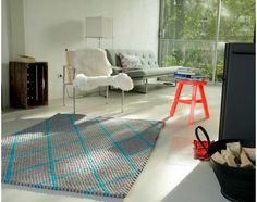 custom-rectangle-felt ball rug-with-dot pattern Felt Ball Rug, Soft Furnishings, Own Home, My Room, Custom Design, Living Room, Rugs, Pattern, Home Decor