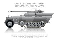 Sd. Kfz. 250/8 - German tank - Panzer by panzerblog.deviantart.com on @DeviantArt
