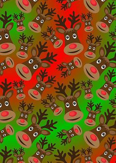 A free set of Reindeer Design Christmas Papers. Suitable for cardmaking, scrapbooking and other paper crafts.