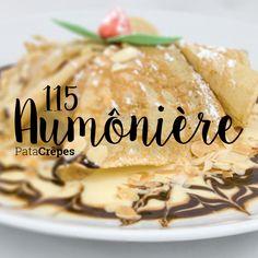 115 - Aumônière Aumônière au chocolat chaud ou Nutella - crème anglaise - amandes grillées