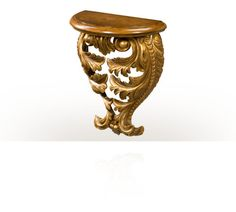 The Fine Acanthus Bracket. A finely carved mahogany demi-lune wall bracket with acanthus leaf scroll support. The original George II. Theodore Alexander, Luxury Furniture Brands, Wall Brackets, Acanthus, Rococo, Wall Shelves, Console, Carving, Mood