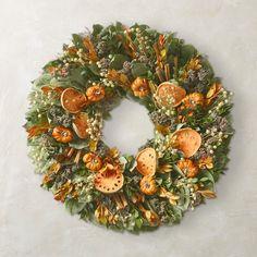 a Wreaths And Garlands, Door Wreaths, Autumn Wreaths, Holiday Wreaths, Stick Wreath, Faux Pumpkins, Pumpkin Wreath, Festival Decorations, Holiday Decorations