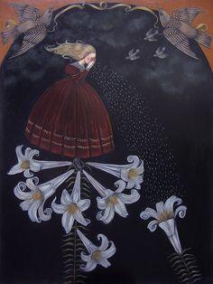 The Weeper Oil on panel, 2010 x 24 - Kelly Louise Judd - Art & Illustration Art And Illustration, Mountain Illustration, Graphic Design Illustration, Fantasy Kunst, Fantasy Art, Victorian Literature, Renaissance Kunst, Spirited Art, Found Art