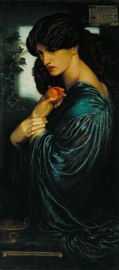 Romanticism — Proserpine via Dante Gabriel RossettiSize:. Dante Gabriel Rossetti, Classical Mythology, Classical Art, Michael Lang, Pre Raphaelite Paintings, John Everett Millais, Christina Rossetti, Francisco Goya, Tate Britain