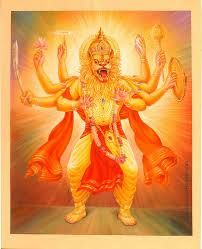 Narasimha Avatar of Lord Vishnu - Dashavatar Hanuman Images, Durga Images, Radha Krishna Images, Krishna Photos, Krishna Art, Indian Gods, Indian Art, Hindu Worship, Shri Hanuman