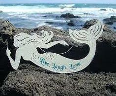 mermaid decor - Live, Love, Laugh sign Mermaid Sign, Mermaid Cove, Mermaid Beach, Seaside Home Decor, Seaside Beach, Nautical Bedroom, Boat Decor, Mermaid Bathroom, Live Laugh Love