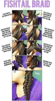FISHTAIL BRAID step by step *I tried it and it worked!! Now I know how to fish tail braid:) Yayayay!!