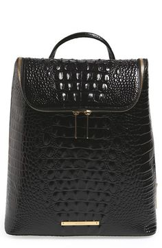 59aafd226264 Brahmin  Darcy  Croc Embossed Leather Backpack available at  Nordstrom Brahmin  Bags