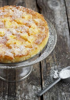 This cake is heavy on the peaches and light on the batter for a truly creamy consistency.  Get the recipe from Seasons and Suppers.   - Delish.com
