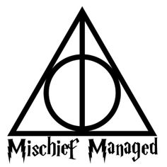 MISCHIEF MANAGED Harry Potter 10 or 12 Vinyl by glendasgifts, $9.00