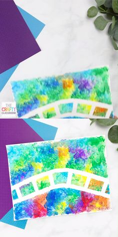 This Monet Craft Project for Kids is a fun (and messy) finger painting craft that will leave children with beautiful results! Find more Impressionist Art Projects for Kids at TheCraftyClassroo… Featuring Seraut, Pollack, Warhol, Van Gogh and more! Kids Crafts, Preschool Art Projects, Craft Projects For Kids, Creative Crafts, Creative Art, Children Art Projects, Art Project For Kids, Process Art Preschool, Autism Crafts