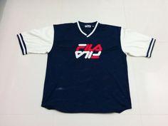 Vtg Fila Spell out logo jersy shirt by ZxcksellLifestyle on Etsy