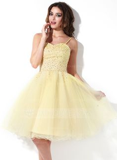 Homecoming Dresses - $122.99 - A-Line/Princess Sweetheart Knee-Length Tulle Homecoming Dress With Beading (022020832) http://jjshouse.com/A-Line-Princess-Sweetheart-Knee-Length-Tulle-Homecoming-Dress-With-Beading-022020832-g20832
