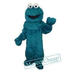 Blue Cookie Monster Sesame Street Mascot Costume