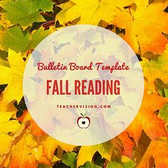 Fall Reading Bulletin Board Idea + Template https://www.teachervision.com/bulletin-board/printable/66760.html?utm_content=buffer2c4df&utm_medium=social&utm_source=pinterest.com&utm_campaign=buffer #elemchat #litchat #kidlit #libchat