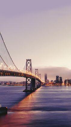 San Francisco Bridge Mountain Landscape iPhone 7 wallpaper