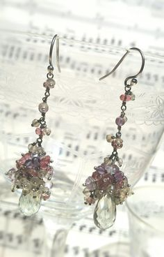 Orecchini fairy #grappolo in Argento 925 #cluster #earrings