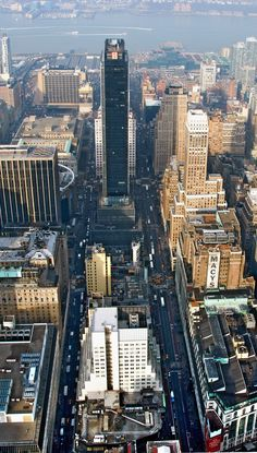 View from Empire State Building, Manhattan. New York, New York.