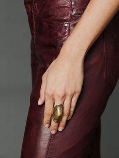 Brass Armour Ring    price: €86.42