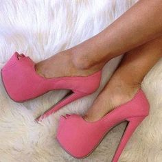 pink heels - #fashion #style #stylish #love ä #me #cute #photooftheday #nails #hair #beauty #beautiful #pretty #swag #pink #girl #girls #eyes #design #model #dress #shoes #heels #styles #outfit #purse #jewelry #shopping #glam by worldfashion_na