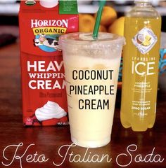 on Keto Drink . The easiest treat to make . Flavored sparkling drink with a splash or two of heavy cream. Low Carb Drinks, Low Carb Smoothies, Smoothie Drinks, Low Carb Starbucks Drinks, Keto Smoothie Recipes, Freezing Smoothies, Keto Breakfast Smoothie, Smoothie Diet, Ketogenic Recipes