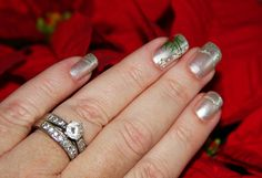 You know I can't resist a fun holiday manicure! This is the hand of a serious photographer, LOL! These are my natural nails, and unfortunately I broke the one on my index finger the other day, but I think it still looks pretty cute! I get my nails do http://weheartnails.com/how-to-do-a-manicure-at-home/