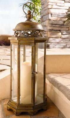 Large Metal Moroccan Hanging Candle Lantern