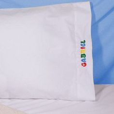 Embroidered Personalized Pillowcase - add a tag with Joshua 1:9