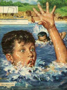 size: Giclee Print: Illustration from 'John Bull', 1959 : Advertising Archives, Vintage Magazines, Gradient Color, Find Art, Framed Artwork, Giclee Print, Gallery, Illustration, Swimming Holes