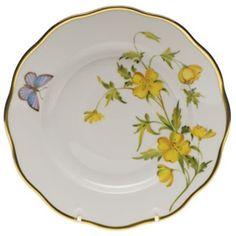 Herend American Wildflowers Evening Primrose Salad Plate