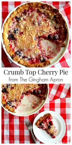 Crumb Top Cherry Pie- an easy and delicious way to make cherry pie.