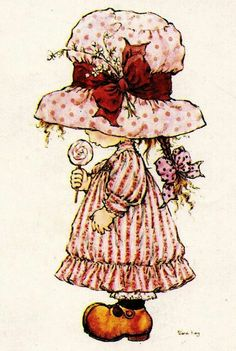 Vivien Kubbos's art of Sarah Kay Sarah Key, Holly Hobbie, Illustration Art Nouveau, Cute Illustration, Image Deco, Illustrations Vintage, Creation Art, Australian Artists, Black And White Pictures