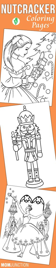 Nutcracker ballet coloring book additional photo inside for Nutcracker coloring pages printable