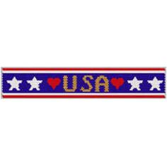 USA Bracelet | Bead-Patterns.com