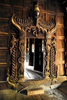 Myanmar entry .... Hmmm, think anyone would notice if I swapped out my current bedroom door frame for this one?
