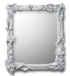 MIRROR WITH LILIES (WHITE)