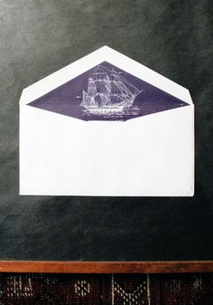 nautical envelope liner Envelope liners in general add that special touch - a personalized one can be a simple and easy addition to any stationery set! Got an idea for a liner - we can help make that happen! Pen And Paper, Paper Art, Message In A Bottle, Mail Art, Illustrations, Envelope Liners, Paper Goods, Ephemera, Nautical