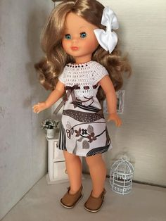 Barbie, Hello Dolly, Little Darlings, American Girl, Doll Clothes, Harajuku, Dolls, Dresses, Crochet Dresses