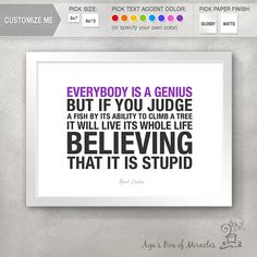 Graduation Gift / Einstein Quotes / by AgasBoxOfMiracles on Etsy, $10.00