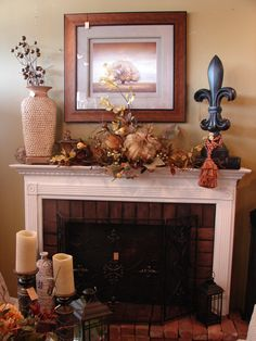 Simple fall mantle  www.thewhitehare.com