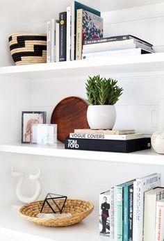 Accessorized bookshelves