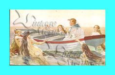 Hey, I found this really awesome Etsy listing at https://www.etsy.com/listing/74919912/s109-vintage-victorian-mermaids-sailor