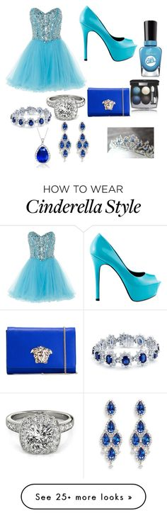 """""""prom"""" by niyah16 on Polyvore featuring Anoushka G, TaylorSays, Chanel, Sally Hansen, Bling Jewelry, CZ by Kenneth Jay Lane, Versace, Allurez and Collette Z"""