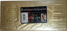 Bonbonwickelpapier Metallik Gold ca. Cover, Books, How To Make, Gold, Self, Candy, Paper, Livros, Livres