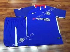 2017-18 Chelsea Home Blue Soccer Uniform,Chelsea