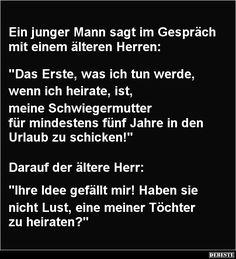 Ein junger Mann sagt im Gespräch mit einem älteren Herren | DEBESTE.de, Lustige Bilder, Sprüche, Witze und Videos